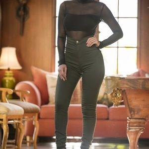 Fashion Nova Super High Waist Denim Skinnies
